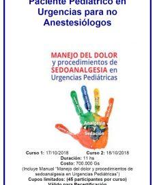 Analgesia y Sedación para el Paciente Pediátrico en Urgencias…