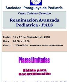 Reanimación Avanzada Pediátrica PALS Noviembre 2018
